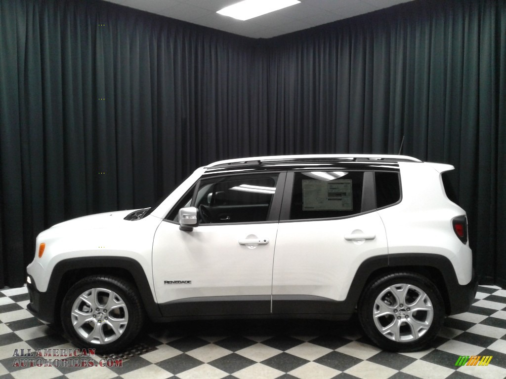 Alpine White / Black Jeep Renegade Limited