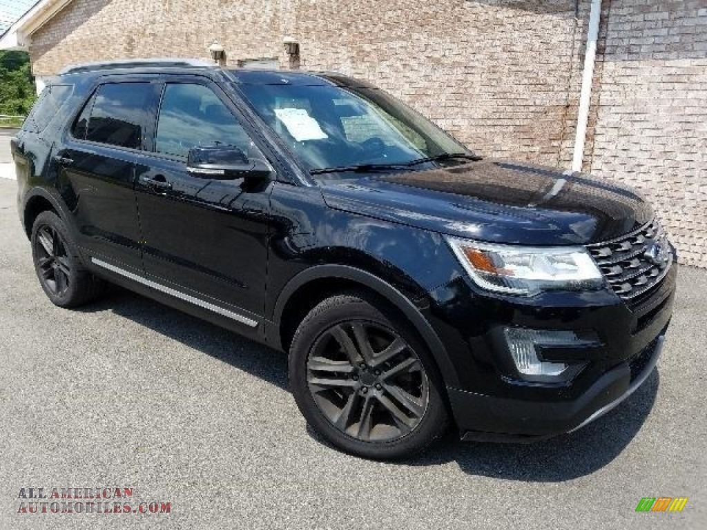 2016 Explorer XLT 4WD - Shadow Black / Ebony Black photo #1