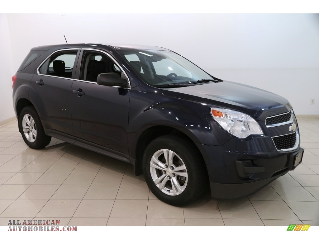Blue Velvet Metallic / Jet Black Chevrolet Equinox LS