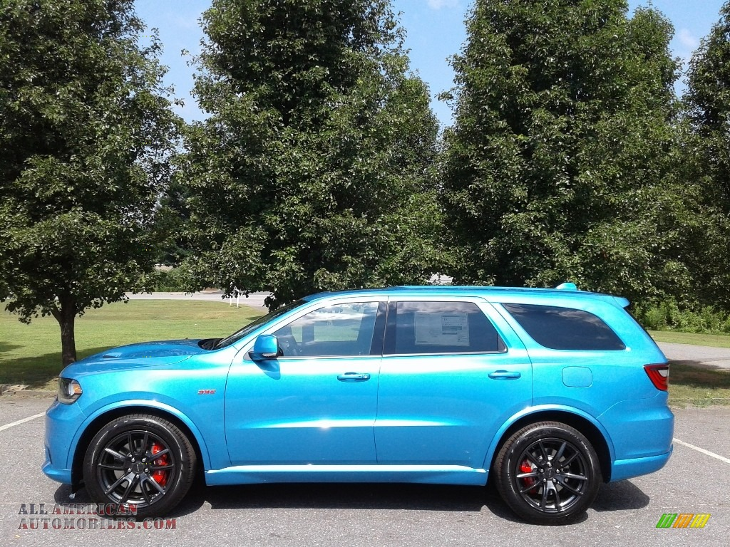 Surf Blue Pearl / Black Dodge Durango SRT AWD