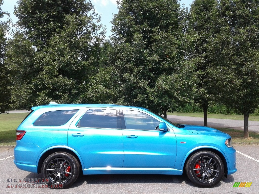 2018 Durango SRT AWD - Surf Blue Pearl / Black photo #5