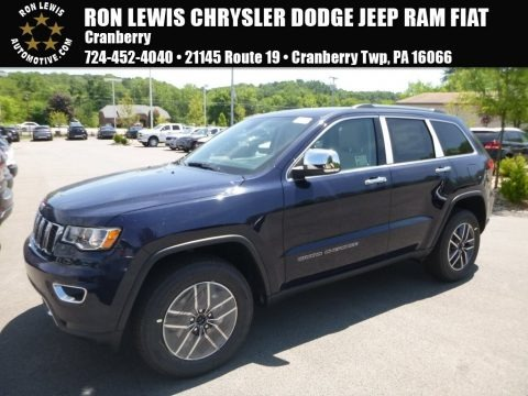True Blue Pearl 2018 Jeep Grand Cherokee Limited 4x4