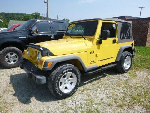 Solar Yellow 2004 Jeep Wrangler X 4x4