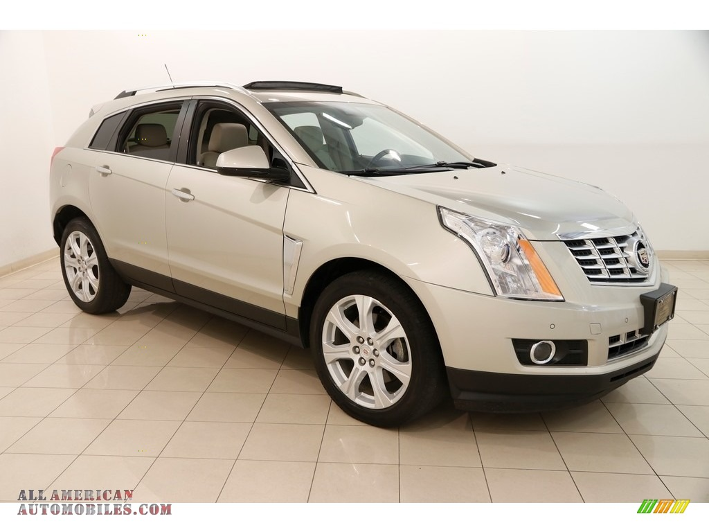 Silver Coast Metallic / Shale/Brownstone Cadillac SRX Performance AWD