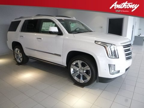 Crystal White Tricoat 2018 Cadillac Escalade Platinum 4WD