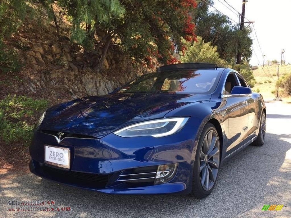 2016 Model S 60 - Deep Blue Metallic / Tan photo #1