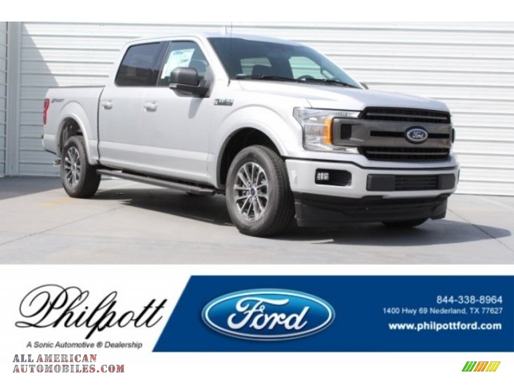 2018 F150 XLT SuperCrew - Ingot Silver / Black photo #1