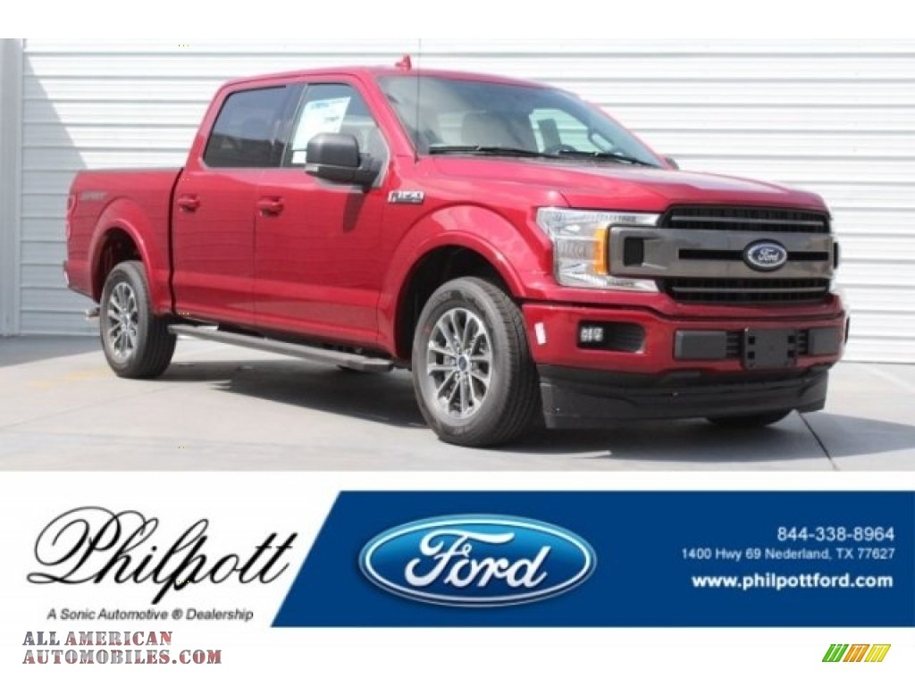 2018 F150 XLT SuperCrew - Ruby Red / Black photo #1