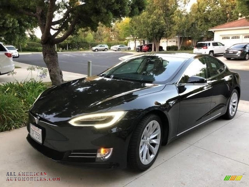 2016 Model S 75D - Solid Black / Tan photo #1