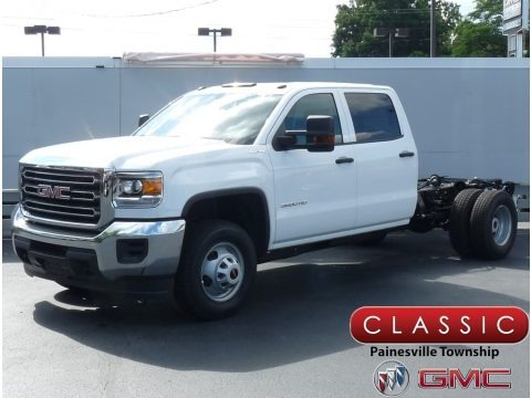 Summit White 2019 GMC Sierra 3500HD Crew Cab 4WD Chassis