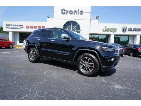 Diamond Black Crystal Pearl 2017 Jeep Grand Cherokee Limited