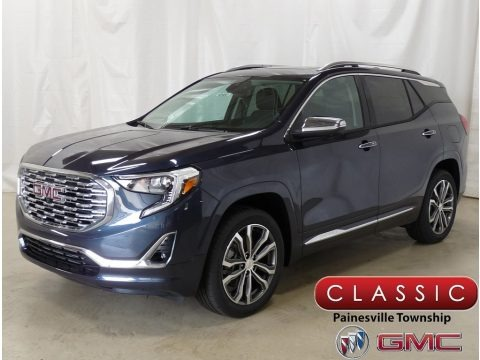 Blue Steel Metallic 2019 GMC Terrain Denali AWD