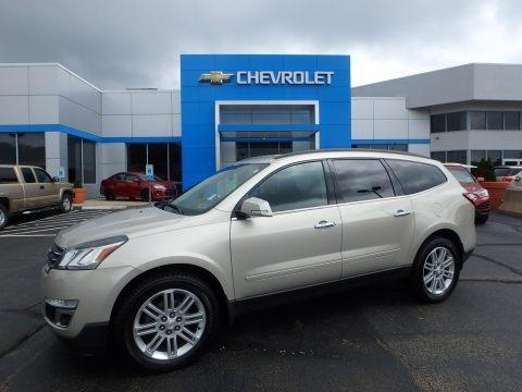 Champagne Silver Metallic 2015 Chevrolet Traverse LT AWD