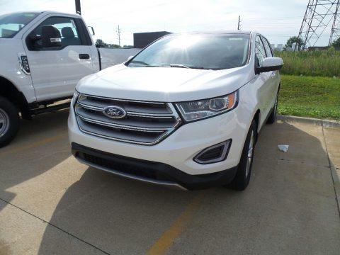 White Platinum 2018 Ford Edge SEL AWD