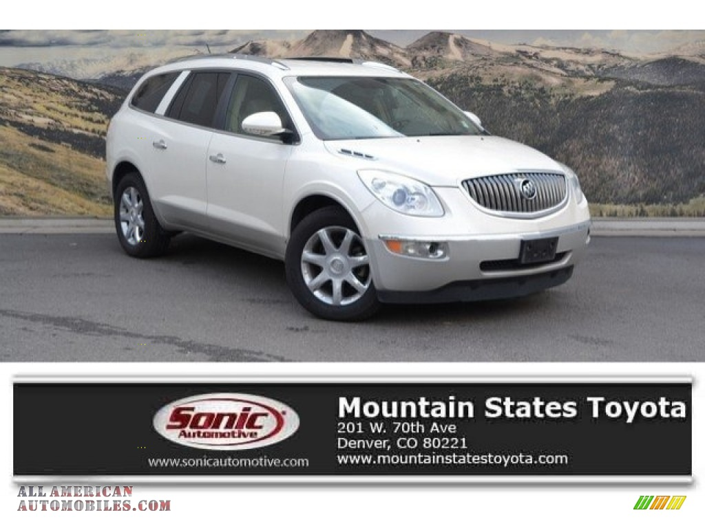 2008 Enclave CXL AWD - White Diamond Tri Coat / Cashmere/Cocoa photo #1