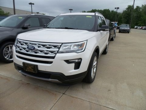 White Platinum 2018 Ford Explorer XLT 4WD
