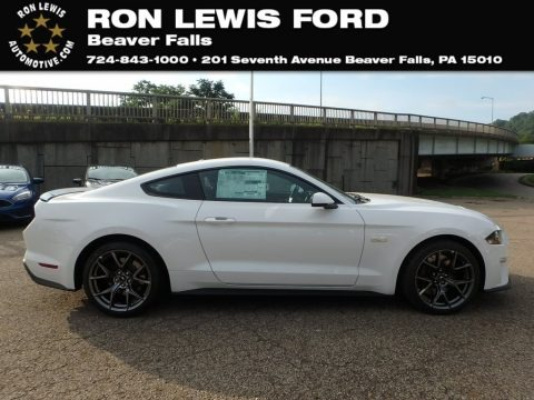 Oxford White 2019 Ford Mustang GT Premium Fastback