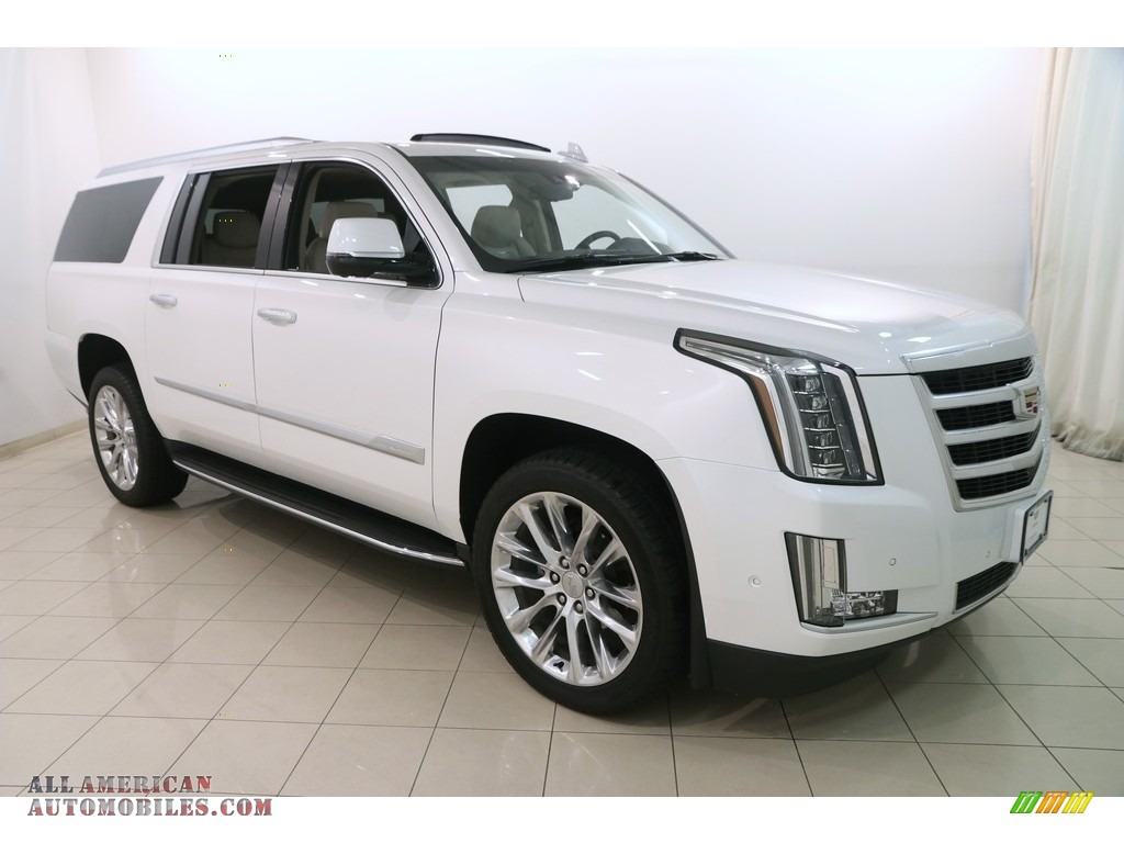 2018 Escalade ESV Luxury 4WD - Crystal White Tricoat / Shale/Jet Black photo #1
