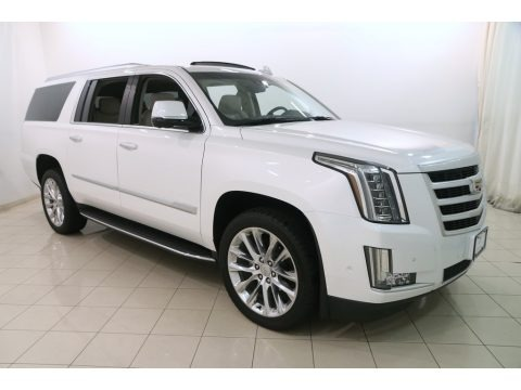 Crystal White Tricoat 2018 Cadillac Escalade ESV Luxury 4WD