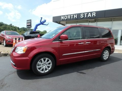 Deep Cherry Red Crystal Pearl 2015 Chrysler Town & Country Touring