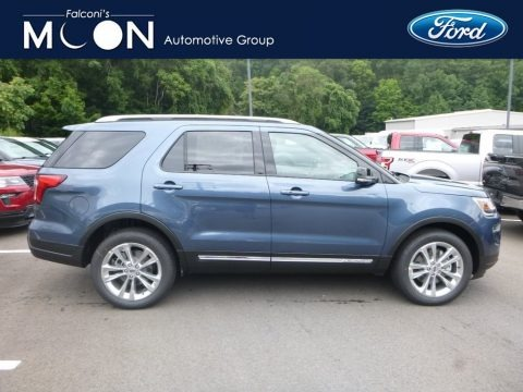 Blue Metallic 2018 Ford Explorer XLT 4WD