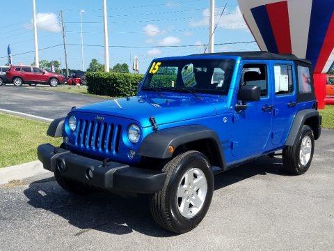 Hydro Blue Pearl 2015 Jeep Wrangler Unlimited Sport 4x4