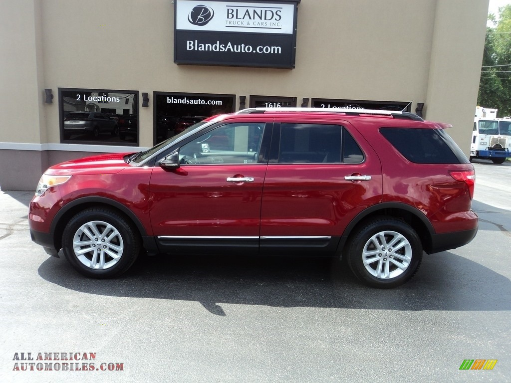 2013 Explorer XLT - Ruby Red Metallic / Medium Light Stone photo #1