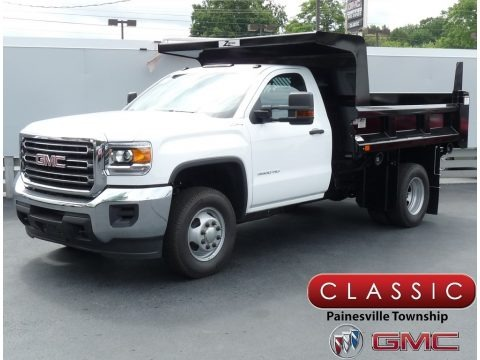 Summit White 2019 GMC Sierra 3500HD Regular Cab 4WD Dump Truck