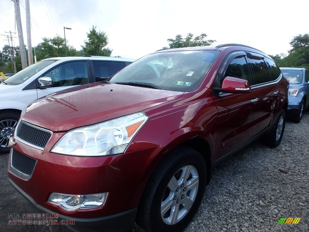 2010 Traverse LT - Red Jewel Tintcoat / Ebony photo #1