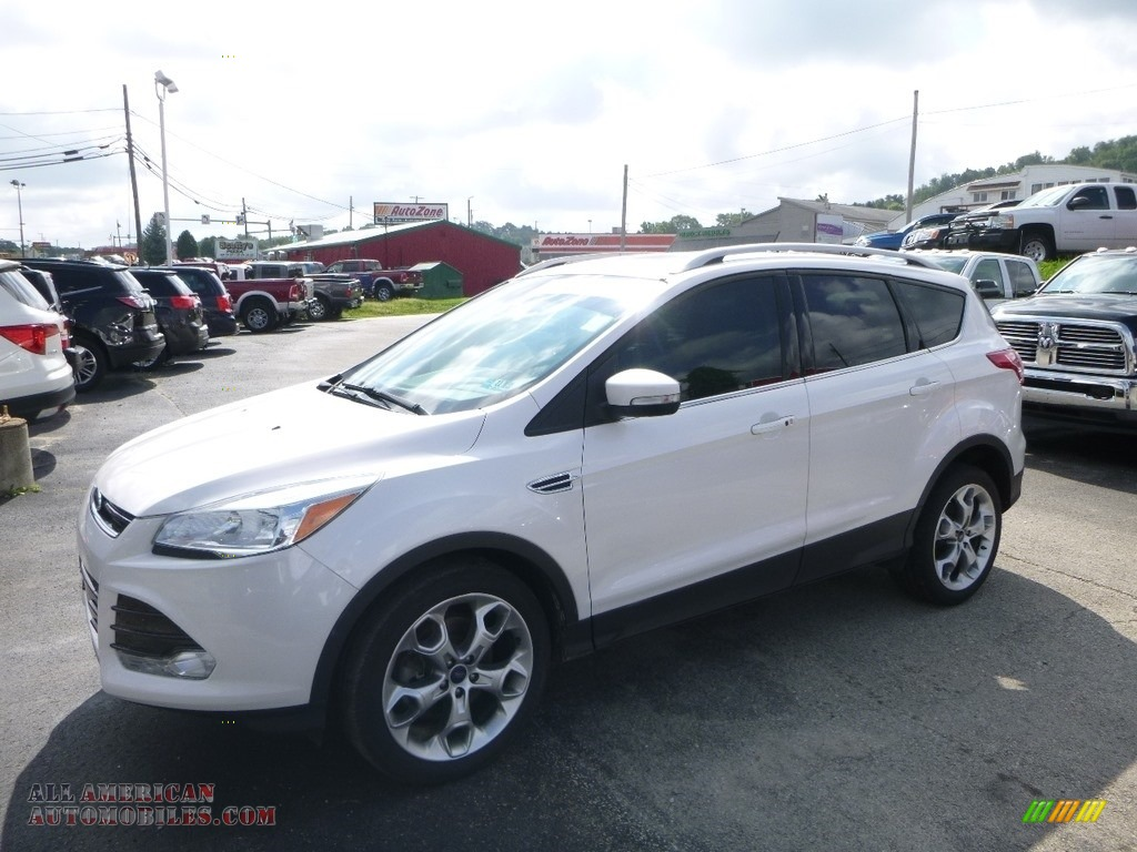 2016 Escape Titanium 4WD - White Platinum Metallic / Medium Light Stone photo #1