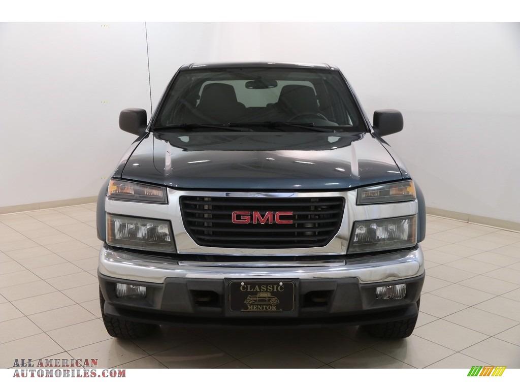 2007 Canyon SLE Crew Cab 4x4 - Stealth Gray Metallic / Dark Pewter photo #2