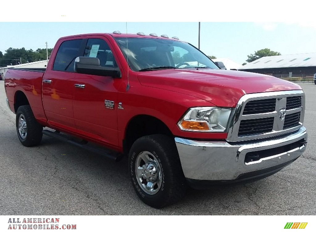 2012 Ram 2500 HD SLT Crew Cab 4x4 - Bright Red / Dark Slate/Medium Graystone photo #1