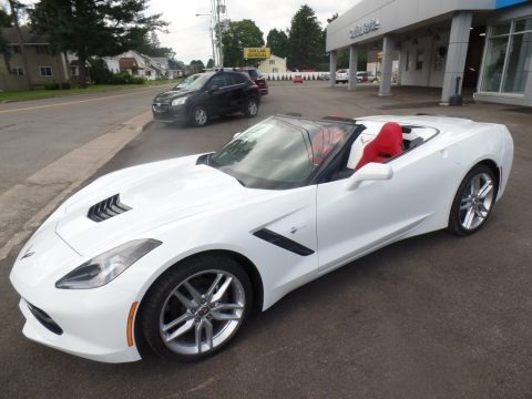 Arctic White 2019 Chevrolet Corvette Stingray Convertible
