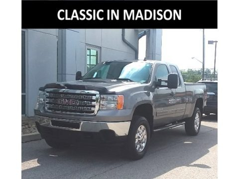 Steel Gray Metallic 2013 GMC Sierra 2500HD SLE Extended Cab 4x4