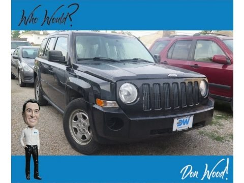 Brilliant Black Crystal Pearl 2008 Jeep Patriot Sport 4x4