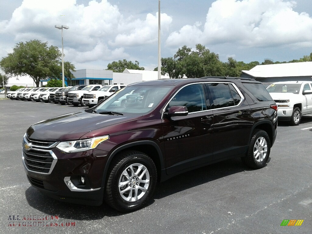 Black Current Metallic / Jet Black Chevrolet Traverse LT