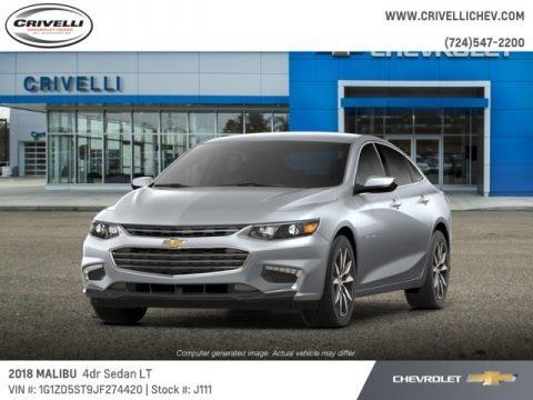 Silver Ice Metallic 2018 Chevrolet Malibu LT