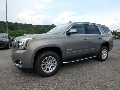 Pepperdust Metallic 2019 GMC Yukon SLT 4WD