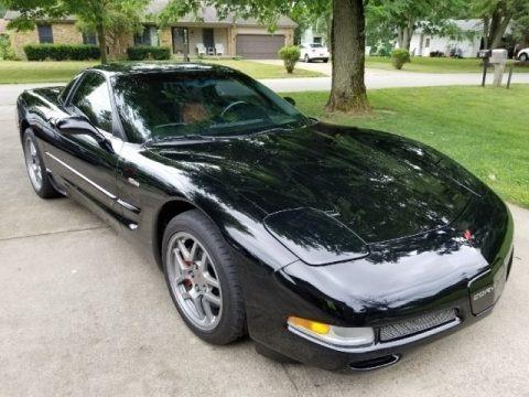 Black 2002 Chevrolet Corvette Z06