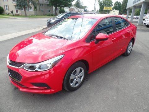 Red Hot 2017 Chevrolet Cruze LS