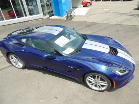 Elkhart Lake Blue Metallic 2019 Chevrolet Corvette Stingray Coupe