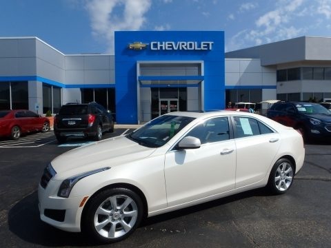 White Diamond Tricoat 2013 Cadillac ATS 2.0L Turbo AWD