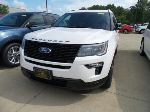 White Platinum 2018 Ford Explorer Sport 4WD