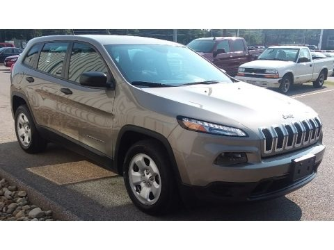 Light Brownstone Pearl 2017 Jeep Cherokee Sport