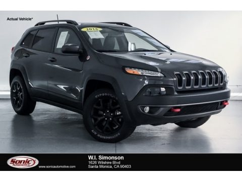 Granite Crystal Metallic 2016 Jeep Cherokee Trailhawk 4x4