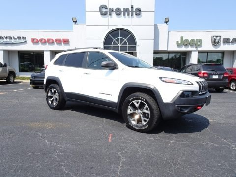 Bright White 2014 Jeep Cherokee Trailhawk 4x4