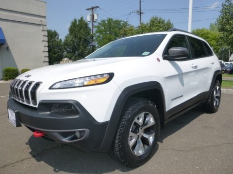 Bright White 2016 Jeep Cherokee Trailhawk 4x4