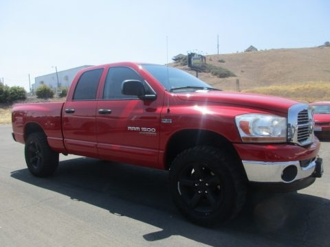 Flame Red 2006 Dodge Ram 1500 SLT Quad Cab 4x4