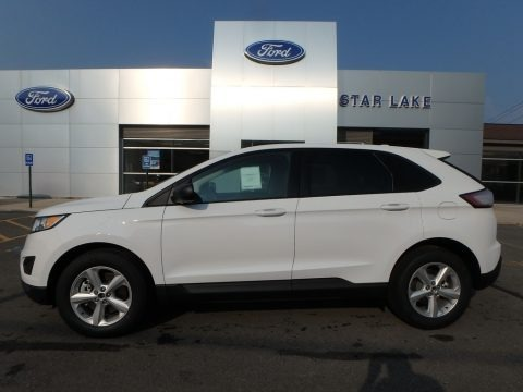 Oxford White 2018 Ford Edge SE AWD