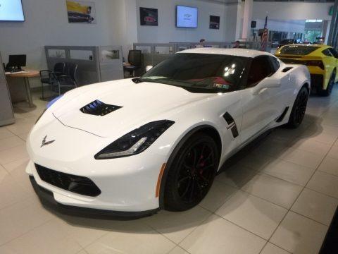 Arctic White 2018 Chevrolet Corvette Grand Sport Coupe